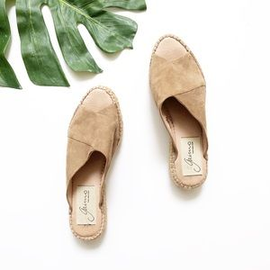 Anthropologie Gaimo Rolling Tan Leather Espadrille